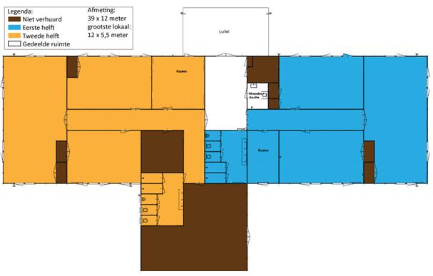 Plattegrond gebouw Scouting Mondriaan